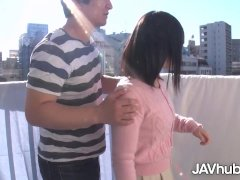 Javhub Asian Teenage Porked From Behind On The Balcony