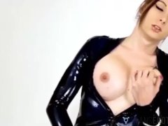 Transerotica Spandex Transsexual Jamie French Blows Man Sausage Before Facial