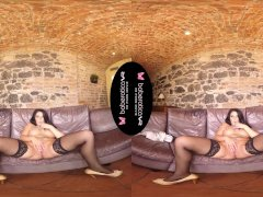 Solo fuck doll, Lucia Denvile is masturbating, in VR