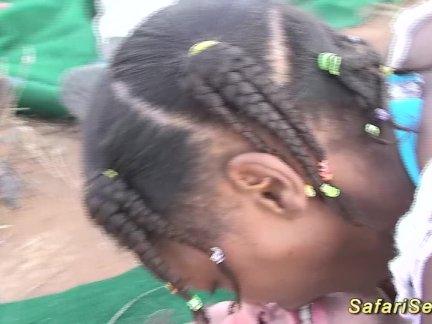Африканское сафари групповуха трахают оргия