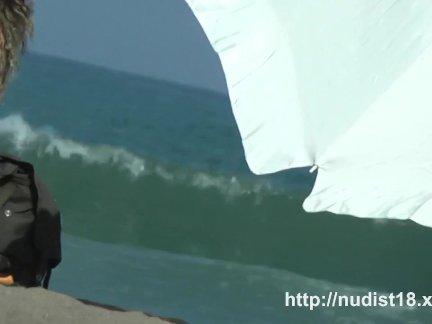 Обнаженная пляж вуайерист побеги