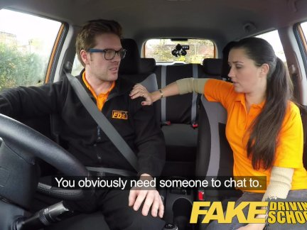 Поддельные вождение школа худший водитель когда-либо трахнут трах в автомобиль