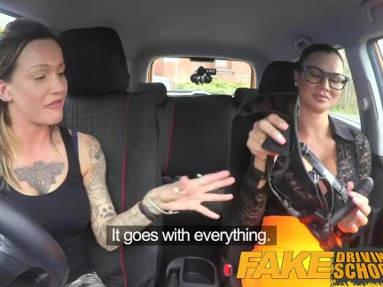 Поддельные Школа вождения Сексуальный ремешок на удовольствие для новых больших сиськи водителя