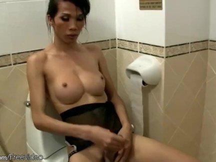 Большой грудью ледибой дрочка их долго ладистиккс в туалет