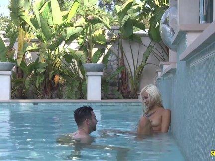Скревбокс-элизабет джоли - трах жестоко в бассейн