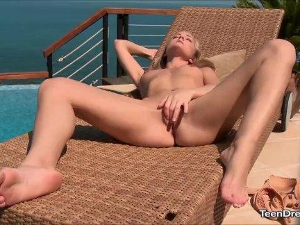 Сицилия пользуется на природе мастурбирует