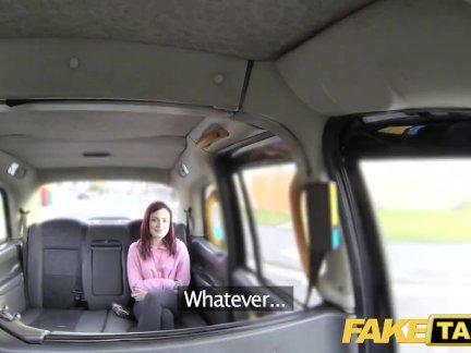 Поддельные такси американский рыжие туго мачо трахал по грязные водитель