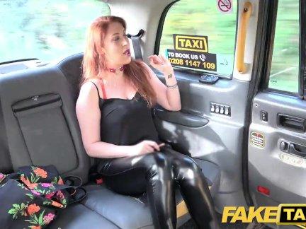 Поддельные такси пышные большие сиськи с имбирем куст киска хочет член