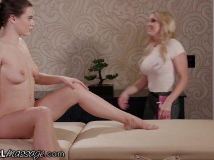 Лана роудс делает массажистку запереть дверь и трахнут ее!