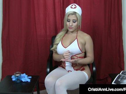 Горячая сперма банк медсестра кристи энн помогает ваш член