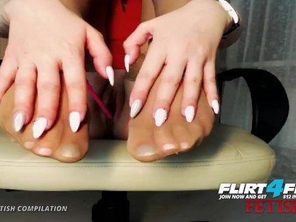 Флиртфри ноги фетиш сборник из сексуальный камера модели