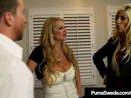 Шведская звезда Пума Швед и Келли Мэдисон Блоу Хабби!