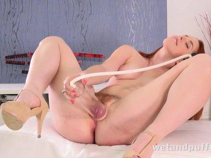 Волосатые киска оргазм-рыжая красотки
