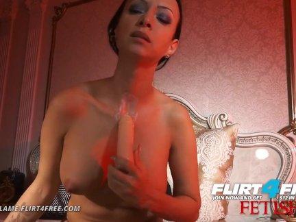 Флиртфри фетиш-ловиа пламя-сексуальный жестоко здоровый евро с шеи фетиш