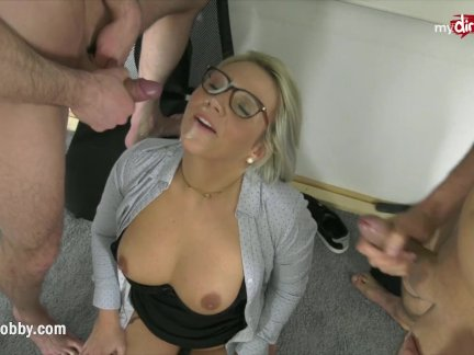 MyDirtyHobby – Threesome with college teacher to relieve exam stress