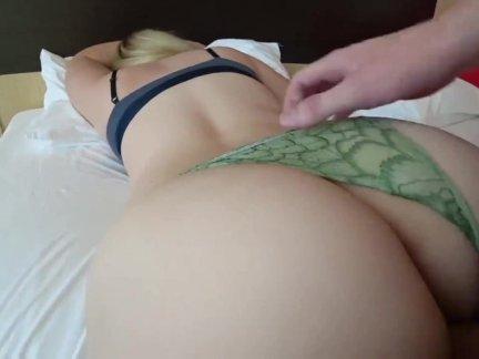 Amateur Big Ass Blonde Caucasian Couple Cream Pie Doggy Style HD Pawg POV Vaginal Sex