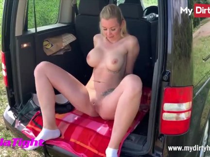 MyDirtyHobby – Outdoor fuck and creampie for busty blonde