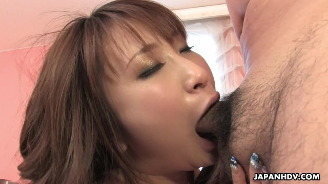 Asian busty bitch loves to kiss as she fucks