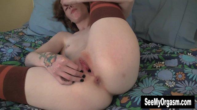 Stockinged Staci Masturbating