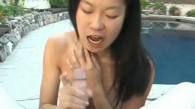 She is so eager as she sucks the dude in pov