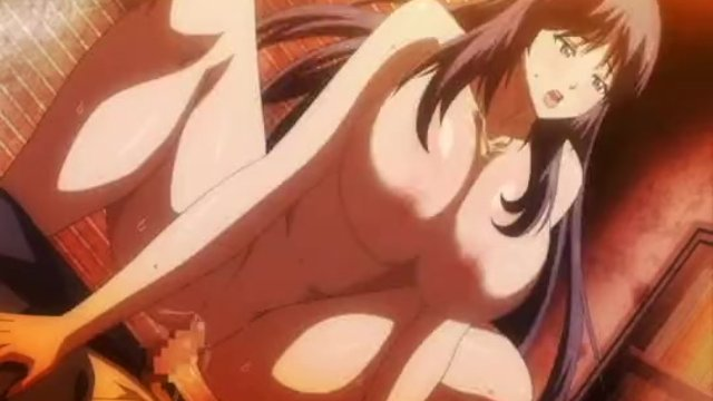 Huge titted hentai babe gets fucked outdoors