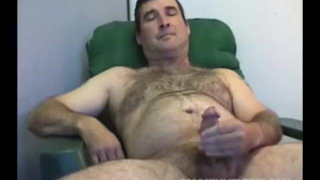 Homemade Video of Mature Amateur Robert Jacking Off