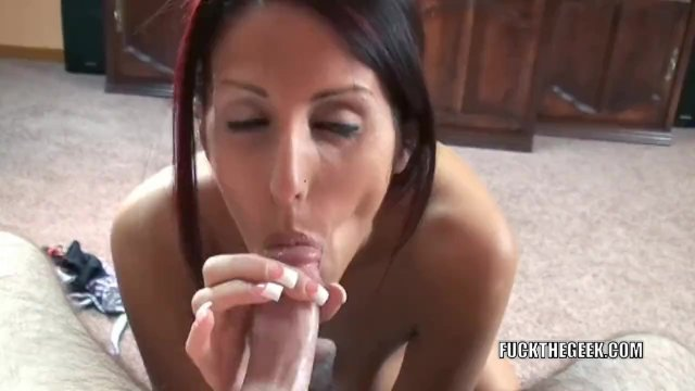 Lavender Rayne is swallowing a hard dick