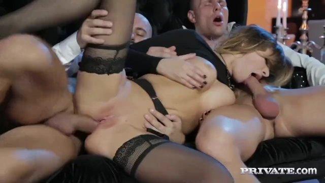 Perky Tit Anna Polina Gets Some Rough DP