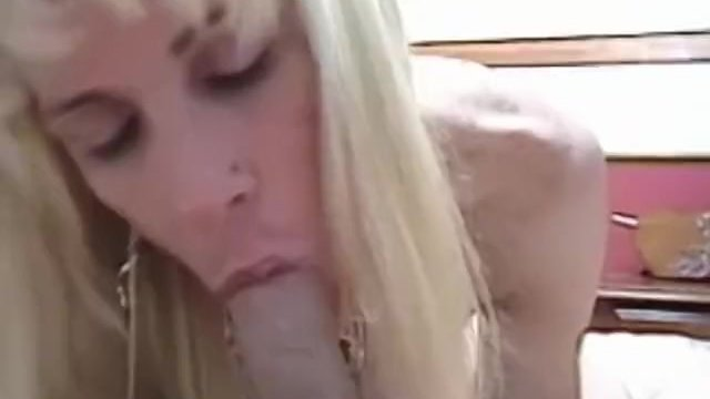 Busty blonde amateur sucks then fucks
