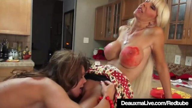 Busty Cougars Deauxma & Kasey Storm Eat Their Sweet Cookies!