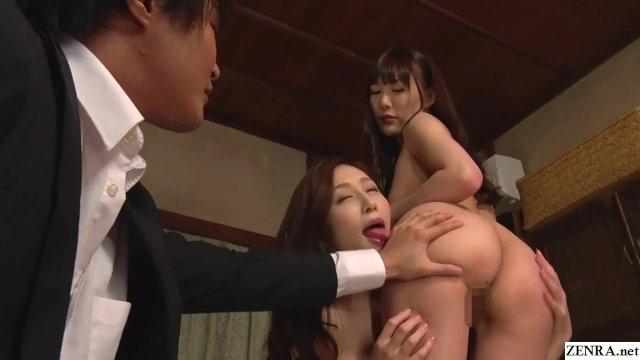 JAV FFM CMNF threesome Aki Sasaki and Miko Komine