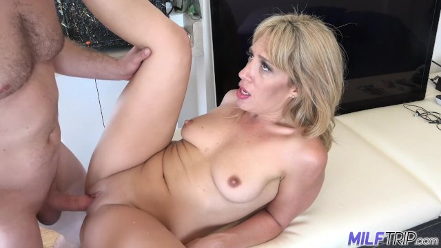 MILF Trip - Horny blonde MILF gets filled with thick dick - Part 2