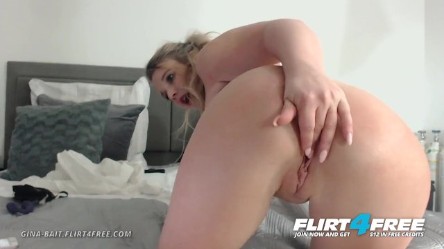 Flirt4Free - Gina Bait - Sexy Blonde with Huge Tits and Big Perfect Ass