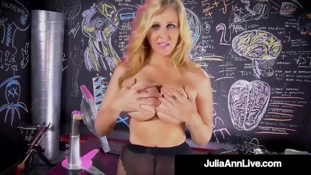 Finger Fucking Milf Julia Ann Rubs Her Wet Pussy To Orgasm!