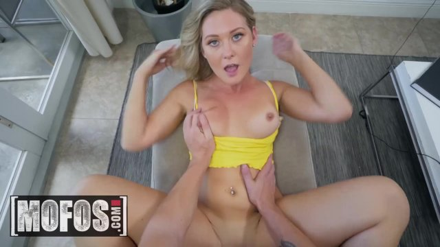 Blonde Addison Lee wants her bf to stop wanking and fuck her face - MOFOS