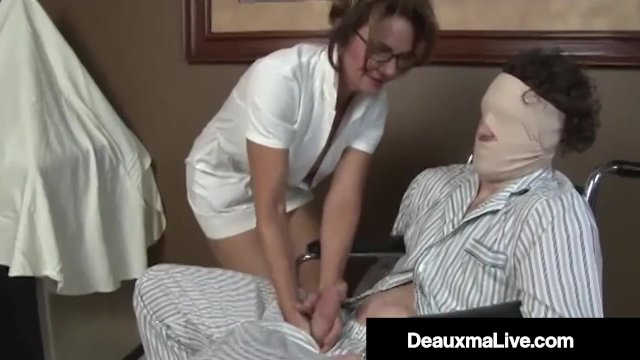 Medical Provider Deauxma Strokes Her Patient s Hard Cock!