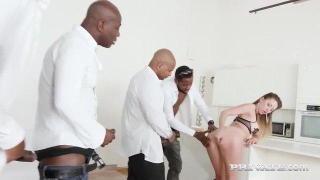 Private - Paulina Soul Shines In 4 Big Black Cock Orgy!
