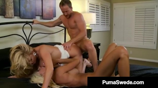Busty Blonde Bombshell Puma Swede & Kelly Madison Suck Cock!