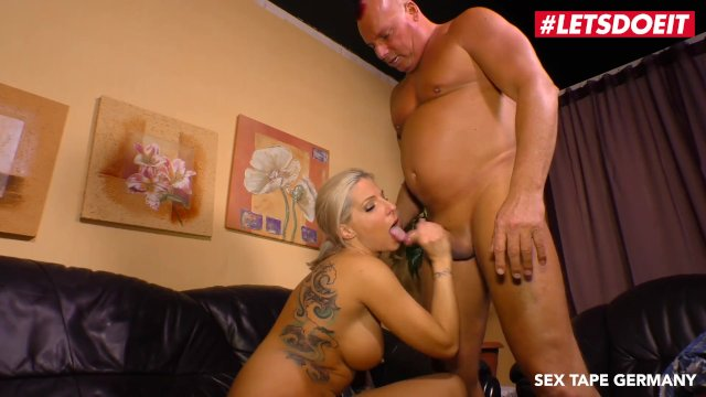 LETSDOEIT - Horny German Blonde Rides Step-Daddy s Cock On Tape