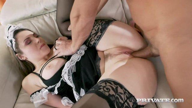 Private - Horny Maid Sofia Curly Gets Boss Cum Facial!
