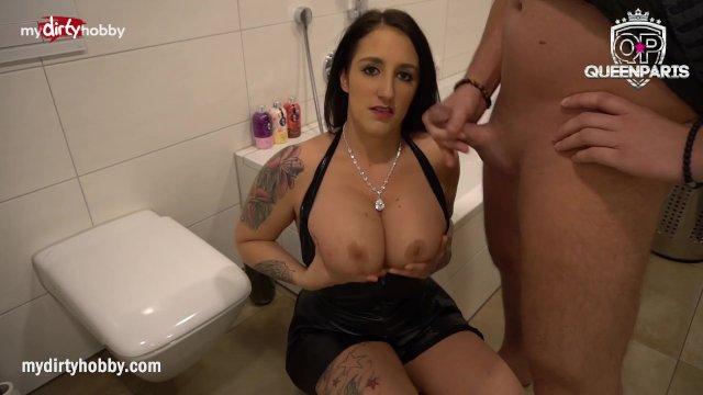MyDirtyHobby - Queen Paris gets fucked in the bathroom