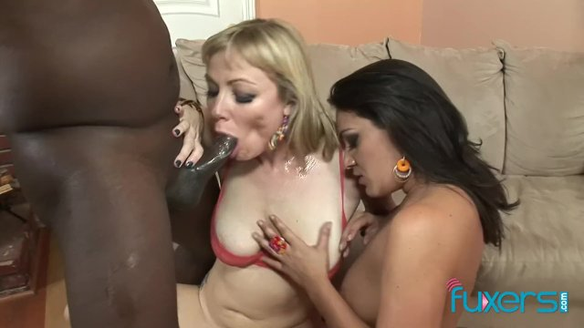 Charley Chase Adrianna Nicole interracial 3some