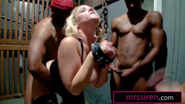Texas Wife Chained Up and Gangbanged by Blacks