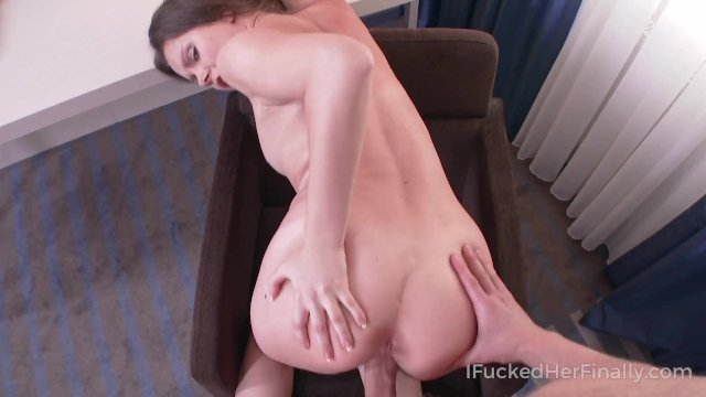 Tutor helps brunette babe to correct the mistakes in her assignment