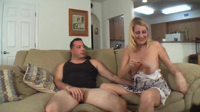 Drunk stepmom seduces son