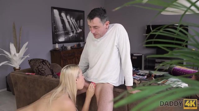 DADDY4K. BF is sleeping after party so why girl can fuck his dad