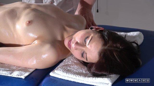 Czech beauty on massage