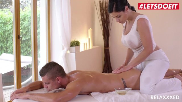 Relaxxxed - Alex Black Busty Oiled MILF Erotic Massage Titfuck - LETSDOEIT