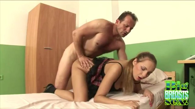 Big Tits Schoolgirl Rose Grinds On Top Of A Hard Cock