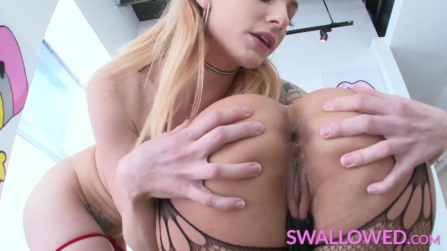 SWALLOWED Dahlia Sky and Vicki Chase double down on a big dick